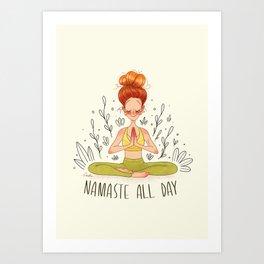 Namasté All Day Art Print
