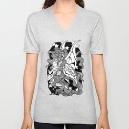 A Fairy Flying in the Night Sky Unisex V-Neck