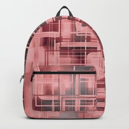 Negative Film Red Pink Pattern Abstract Backpack