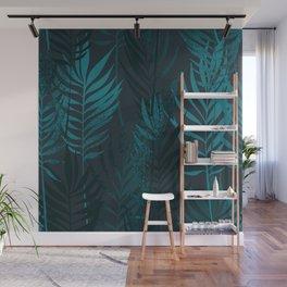 Hand Drawn Palm Leaves Wall Mural