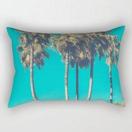 A Few Turquoise Palms Rectangular Pillow