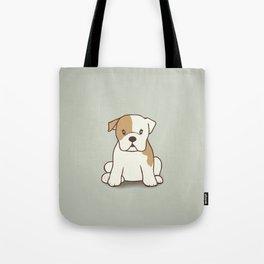 English Bulldog Illustration Tote Bag