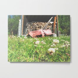 Country Wood Shed Metal Print