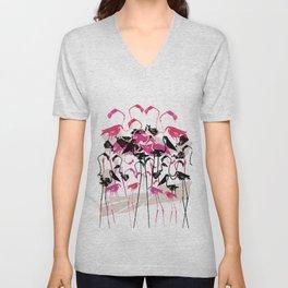 Flamingoes Unisex V-Neck