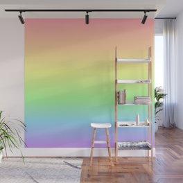 Pastel Rainbow Gradient Wall Mural