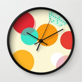 Japanese Patterns 06 Wall Clock