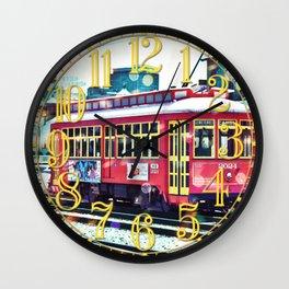 Bokeh Streetcar Wall Clock