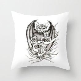 Midnight Dream - Black and White Design Throw Pillow
