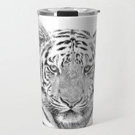 Black and white tiger Travel Mug