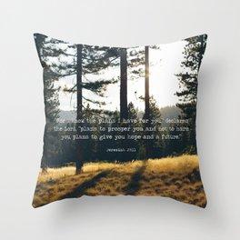 Golden Jeremiah 29:11 Throw Pillow