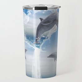 The Heart Of The Dolphins Travel Mug