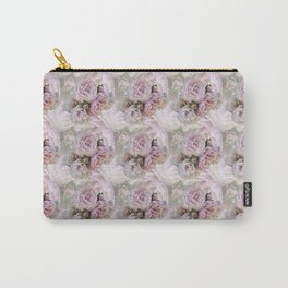 Misty Pink Roses Carry-All Pouch