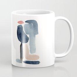 Navy Blue Minimal Figure Coffee Mug