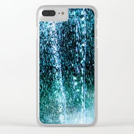 Raining Up and Down Clear iPhone Case