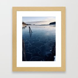 A Cold Day at the Harbor Framed Art Print