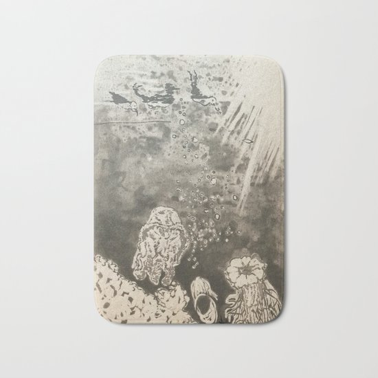 MoonSea EcoSystem Black and White Bath Mat