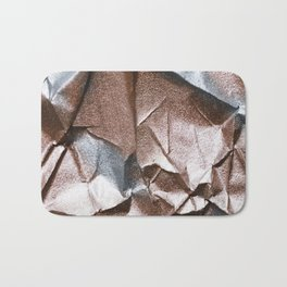 Rose Gold and Silver Abstract Bath Mat