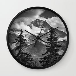 Jungfrau Mountauin. 4.158 Meters. Swithzerland Alps Wall Clock