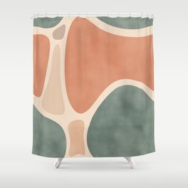 Earth Tones Shapes #society6 #abstractart Shower Curtain