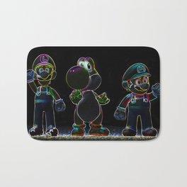 Luigi, Yoschi and Mario Bath Mat