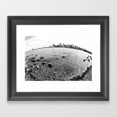 The Earth is round - Vancouver, BC  Framed Art Print