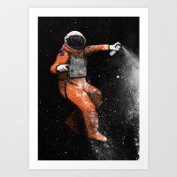 astronaut Art Prints featuring Astronaut by Florent Bodart / Speakerine