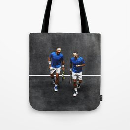 Nadal and Federer Doubles Tote Bag