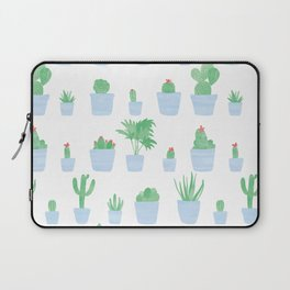 Cacti and Plants in Pots | Blue Palette Laptop Sleeve