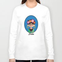 frida Long Sleeve T-shirts featuring Frida by Juliana Motzko