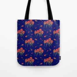 Floral-Indian Paintbrush-Blue Tote Bag
