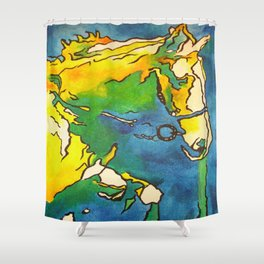 Horse and Bridle Shower Curtain