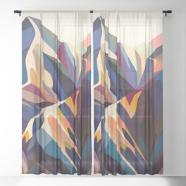 Mountains original Sheer Curtain