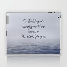 Cast All Your Anxiety on Him Laptop & iPad Skin