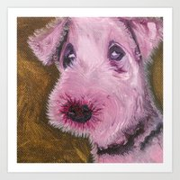 Molly - Portraits Of My Dog Friends Art Print