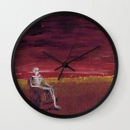 Enjoying the end of the world Wall Clock