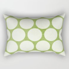 green and white polka dots Rectangular Pillow