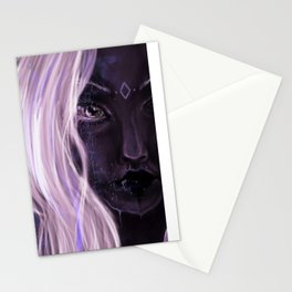 Drow pastel girl Stationery Cards