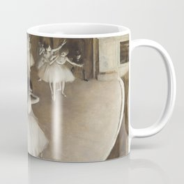 Ballet Rehearsal on Stage Coffee Mug