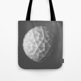 Wireframe Icosphere Tote Bag