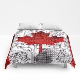 circuit board Canada (Flag) Comforters