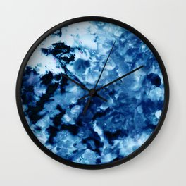 Ice Dye #2 Wall Clock
