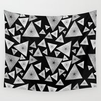 pyramid Wall Tapestries featuring Pyramid I by MJ Mor
