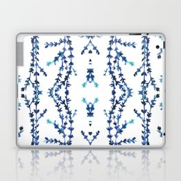 Vines Kaleidoscope (blue on white) Laptop & iPad Skin