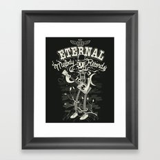 Eternal melody records Framed Art Print