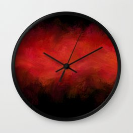 Abstract Red Black Dark Matter Wall Clock