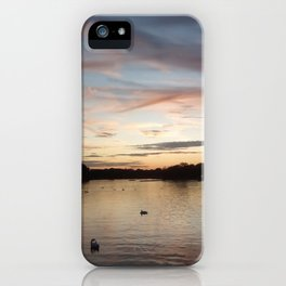 Hyde park sunset. iPhone Case