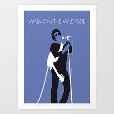 No068 MY LOU REED Minimal Music poster Art Print