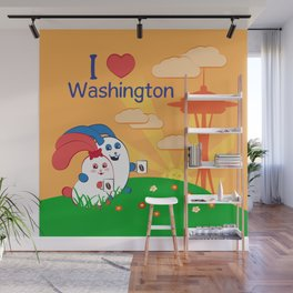 Ernest and Coraline | I love Washington Wall Mural