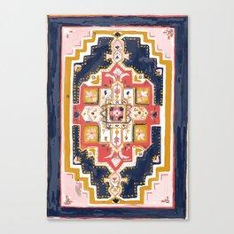 Rugs-Navy Canvas Print
