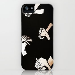 our hands iPhone Case